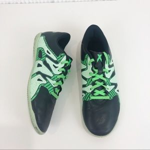 ADIDAS Navy Blue and green sneakers